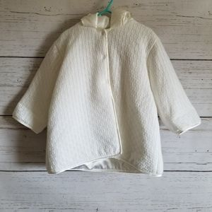 Lined Knit Jacket with Hood